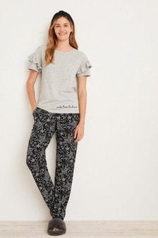 Grey Mini Stars Cotton Pyjamas
