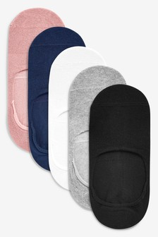 Multi Invisible Trainer Socks Five Pack