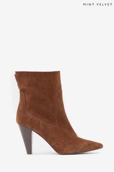 Mint Velvet Ezra Tan Suede Ankle Boots