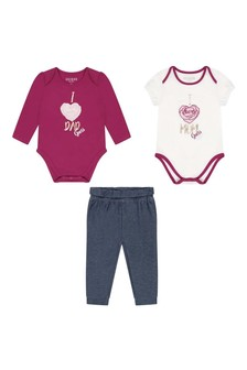 Baby Girls Berry Mixer Cotton Outfit 4 Piece Set