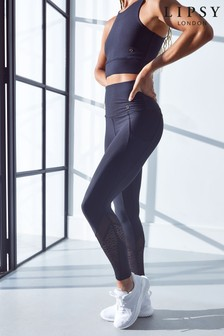 Black Mesh Panel Lipsy 7/8 Technical Leggings