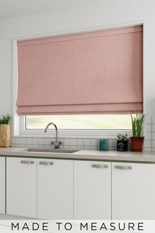 Textured Blush Pink Made To Measure Roman Blind