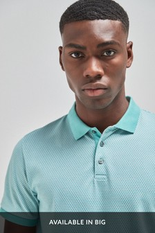 Mint Regular Fit Texture Polo