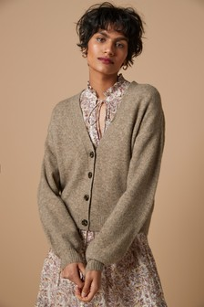 Taupe Soft Short Cardigan