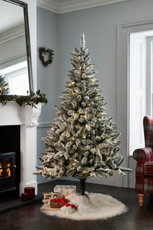 6ft Pre Lit Snowy Christmas Tree