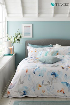 TENCEL™ Watercolour Butterfly Duvet Cover And Pillowcase Set