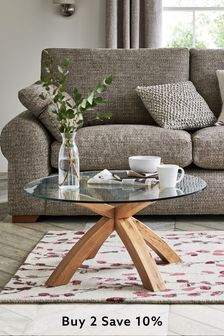 Oak Oak And Glass Coffee Table