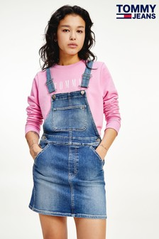 Tommy Jeans Blue Classic Dungaree Dress