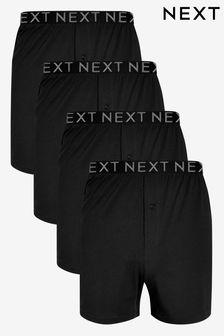 c364282cb6 Black Loose Fit Pure Cotton Four Pack
