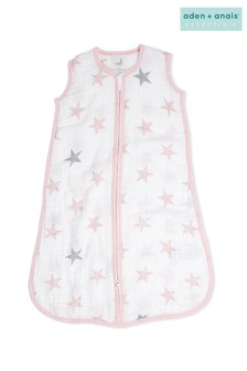 aden + anais Essentials Pink 1.0 Tog Summer Sleeping Bag