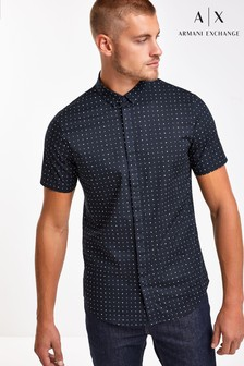 Armani Exchange Micro Monogram Shirt