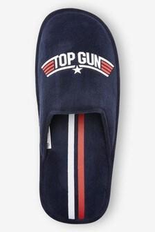 Navy Top Gun Mule Slippers
