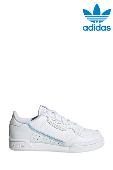 adidas Originals White Iridescent Continental 80 Junior Trainers