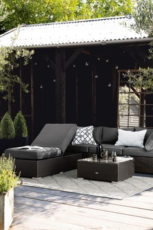 Dark Grey Weave with Dark Grey Cushions Monaco Multifunctional Living Garden Set