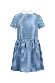 GUCCI Kids Girls Blue Dress