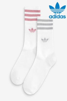adidas Originals Mid Cut Glitter Socks 2 Pack