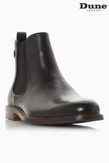 Dune London Character Black Leather Chelsea Boots