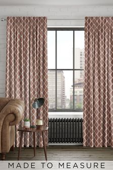 Taylor Coral Orange Made To Measure Curtains
