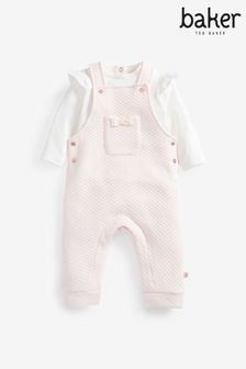 Baker by Ted Baker Baby Girls 2 Piece Quilted Set