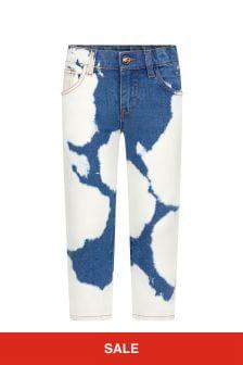 Versace Blue Cotton Jeans