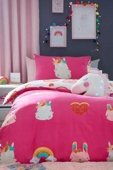 Unicorn Icons Reversible Duvet Cover And Pillowcase Set