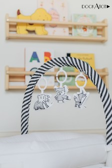 DockATot White Mobile Toy Arch and Cheeky Chums Set
