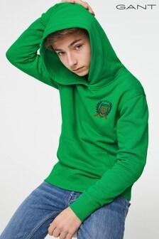 GANT Teen Boys Green Crest Hoody