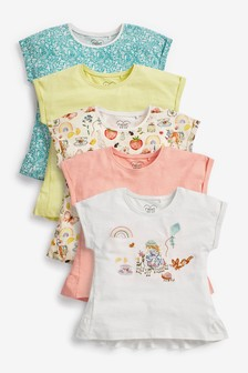 Girl Character 5 Pack Cotton T-Shirts (3mths-7yrs)