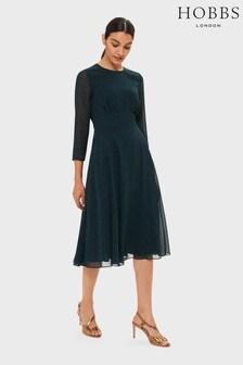 Hobbs Green Mimi Printed Dress