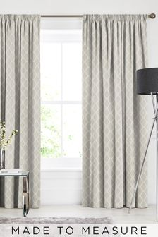 Taylor Oyster Natural Made To Measure Curtains
