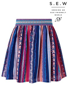 Monsoon Natural S.E.W Sophie Printed Skirt