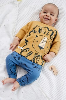 Ochre Lion T-Shirt And Leggings Set (0mths-2yrs)