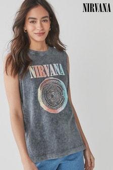Licence Charcoal Nirvana Crew Neck Tank