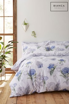 Botanical Floral Cotton Duvet Cover and Pillowcase Set by Bianca
