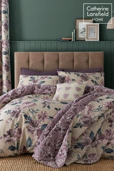Painted Floral Easy Care Duvet Cover and Pillowcase Set by Catherine Lansfield