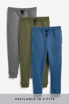 Multi Slim Fit 3 Pack Joggers (3-16yrs)