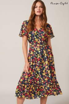 Phase Eight Pink Ailee Floral Printed Dress