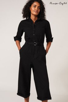 Phase Eight Black Jarah Denim Jumpsuit