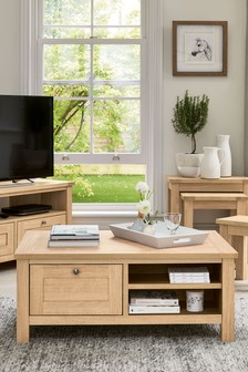 Oak Effect Malvern Storage Coffee Table