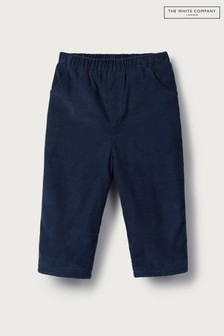 The White Company Navy Soft Cord Trousers