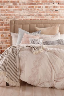 Peri Home Tufted Geo Jacquard Duvet Cover