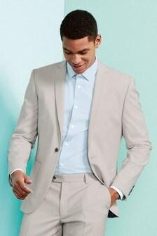 Light Grey Slim Fit Suit: Jacket