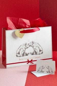 Bear Hugs Valentine's Bag, Card and Tissue Set