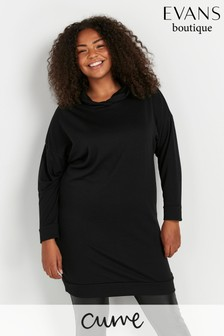 Evans Curve Black Hooded Tunic