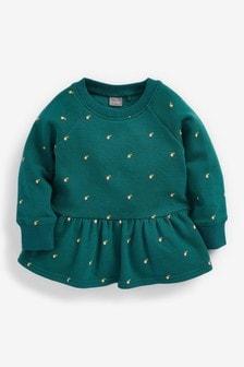Teal Apple Sweatshirt Soft Touch Jersey (3mths-7yrs)