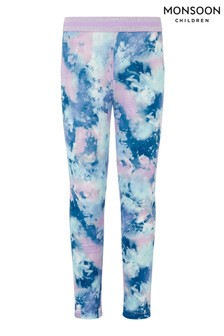 Monsoon Blue Tie Dye Print Leggings