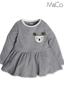 M&Co Grey Koala Stripe Tunic