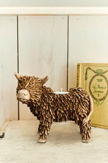 Hamish The Highland Cow Tealight Holder