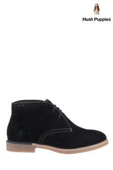 Hush Puppies Black Bailey Bounce Chukka Boots