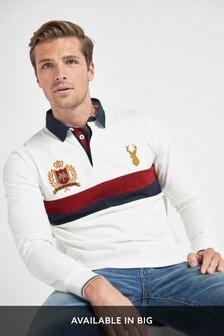 Ecru Chestblock Rugby Shirt